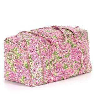 Vera Bradley duffle bag pink petal